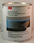 Gallon, 3M Lightweight Body Filler with creme hard