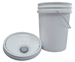 5 Gallon Round HPDE Pail, UN Rated, with Lid