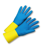 (8,M)Chemi-Pro #224 Blue Latex Gloves
