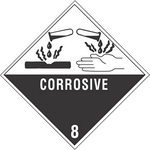 CORROSIVE 8, Label,   (4in X 4
