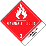 FLAMMABLE LIQUID 3, Label, (4i