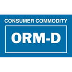 ORM-D, Label  (1 3/8in X 2 1/4