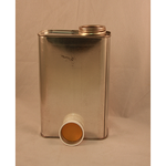 "1 Pint Rectangular Can with 1 1/4"" Lid"