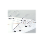Clear Dorsal Products Quad Fin Set (FCS Tabs)