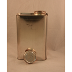 "1 Quart Rectangular Can with 1 3/4"" Lid"