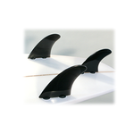 Black Dorsal Products Thruster Fins (FCS Tabs)