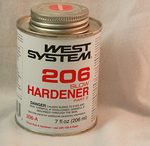 West 206A Slow Hardener, 206ml